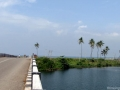 Bridge on Edava-Nadayara Lake at Kappil beach
