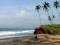 Palm fringed Black beach Varkala